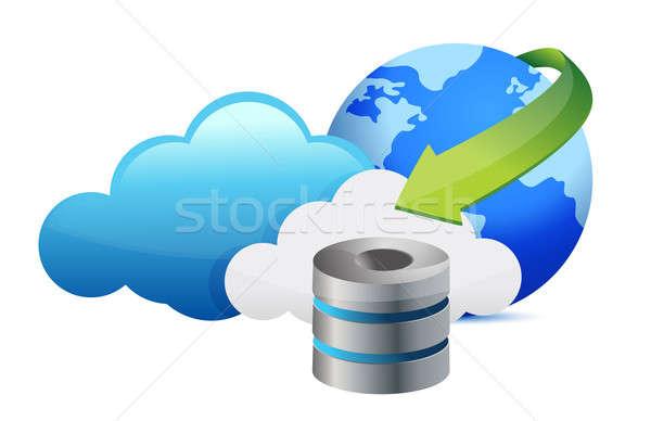 server content concept illustration design over white Stock photo © alexmillos