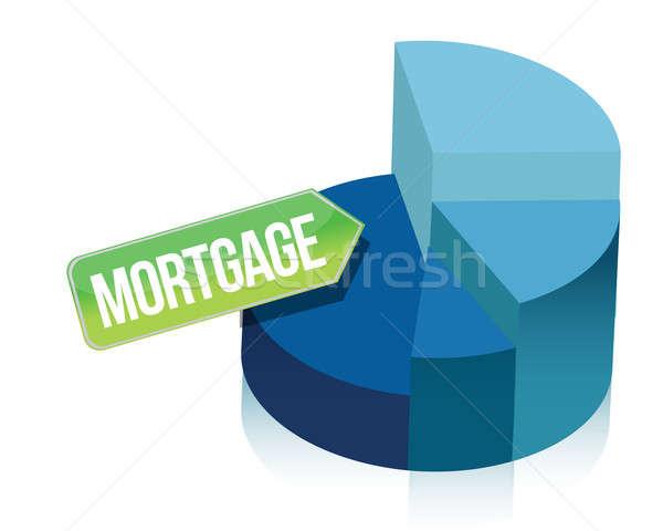 Hypothèque illustration design blanche maison Photo stock © alexmillos