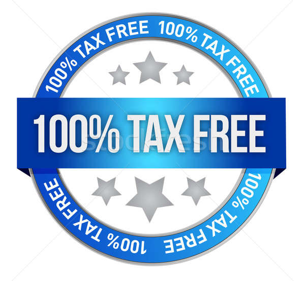 Tax free icon illustration design over a white background Stock photo © alexmillos
