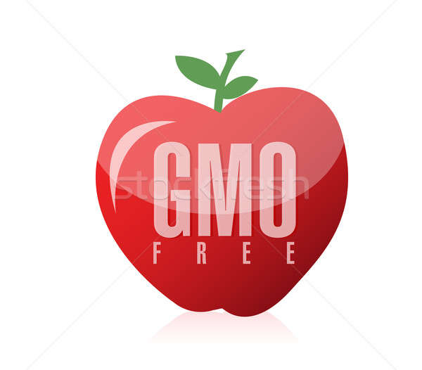 Gmo free food illustration design Stock photo © alexmillos