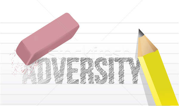 Erasing adversity concept illustration design Stock photo © alexmillos
