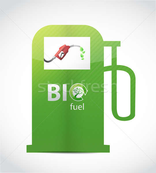 Bio fuel gas pump illustration design Stock photo © alexmillos