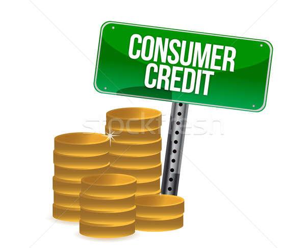 Tüketici kredi madeni para iş para Stok fotoğraf © alexmillos