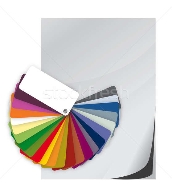 Color guide spectrum swatch and blank paper illustration Stock photo © alexmillos