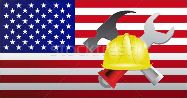 USA construction  Stock photo © alexmillos