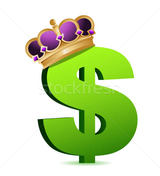 Dollar currency gold crown Stock photo © alexmillos