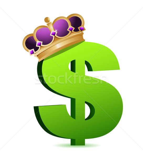 Dollaro valuta oro corona business soldi Foto d'archivio © alexmillos