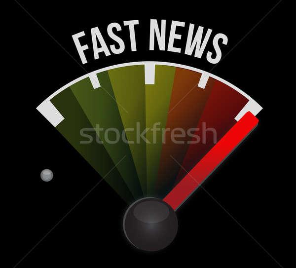 Fast news speedometer  Stock photo © alexmillos