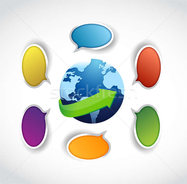 Global communication concept illustration Stock photo © alexmillos