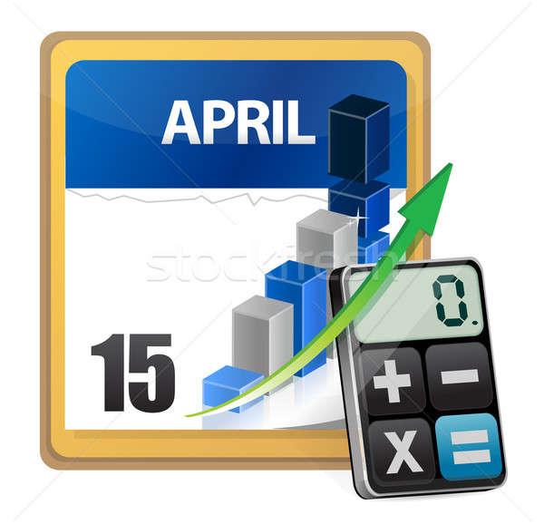 Taxes and modern calculator Stock photo © alexmillos
