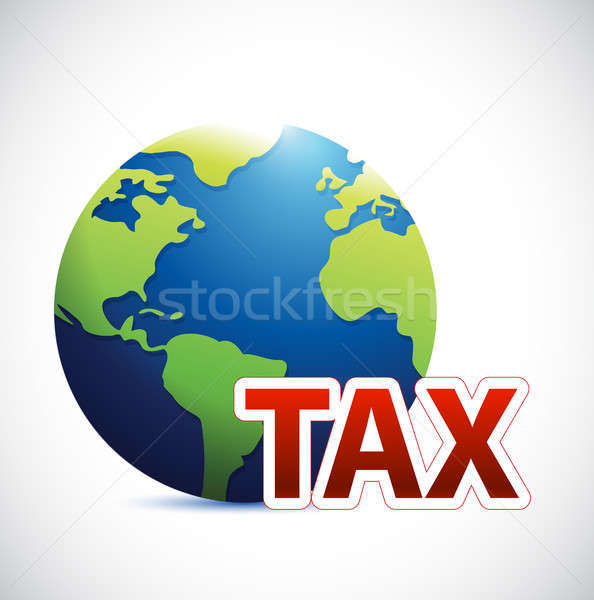 International tax sign concept illustration Stock photo © alexmillos