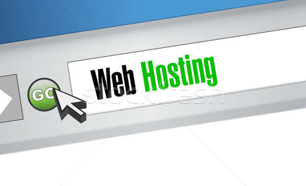 Web hosting browser teken illustratie grafisch ontwerp Stockfoto © alexmillos