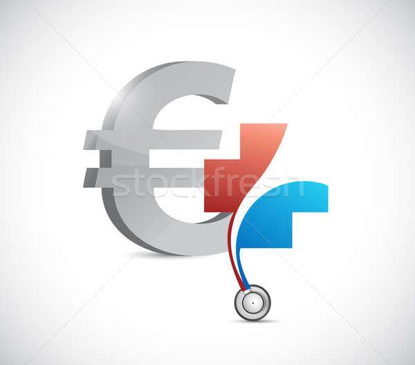 Euro financial health concept. currency Stock photo © alexmillos