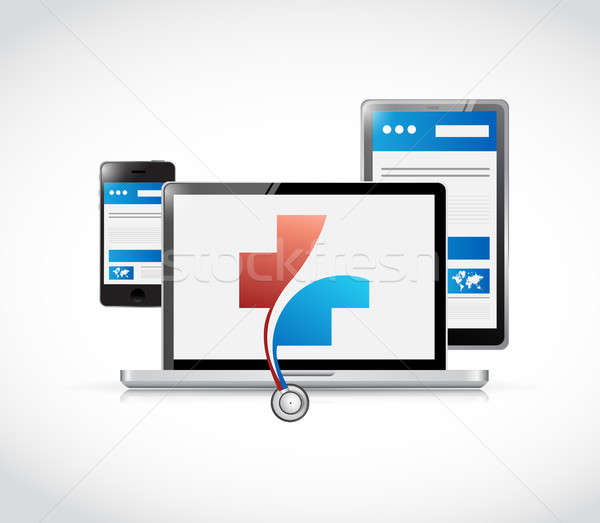 medical responsive network concept Stock photo © alexmillos