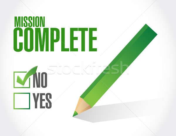 Não missão aprovação assinar ilustração Foto stock © alexmillos