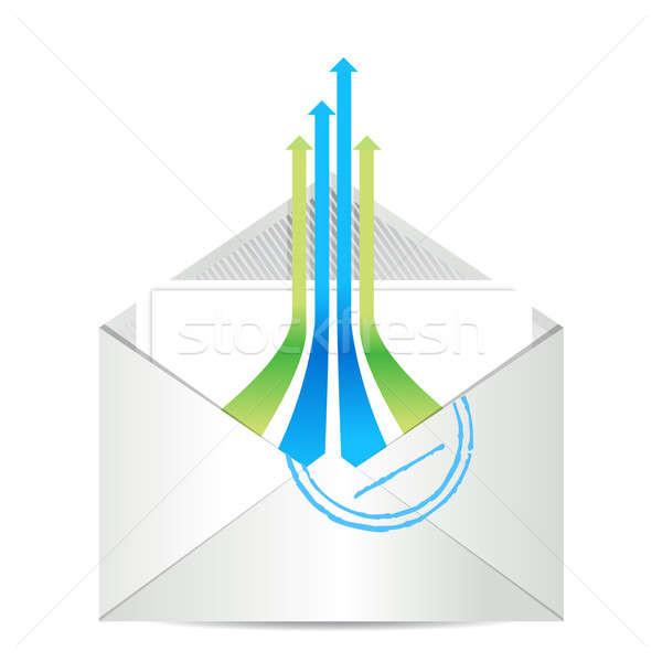 Сток-фото: электронная · почта · икона · конверт · почты · лидера · Стрелки