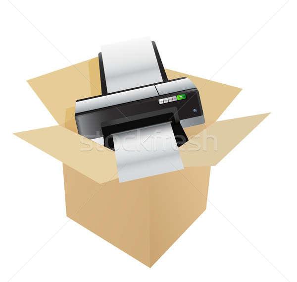 printer inside a box Stock photo © alexmillos