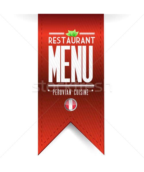 peruvian restaurant texture banner Stock photo © alexmillos