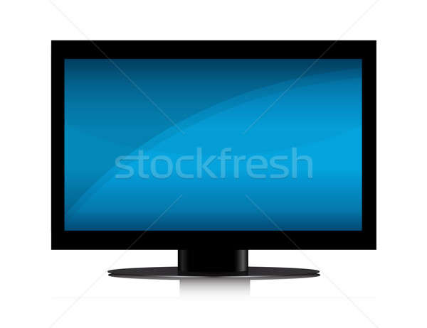Moderne flatscreen geïsoleerd witte home Blauw Stockfoto © alexmillos