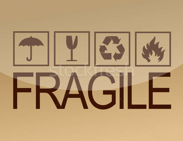Image grunge noir fragile symbole Photo stock © alexmillos