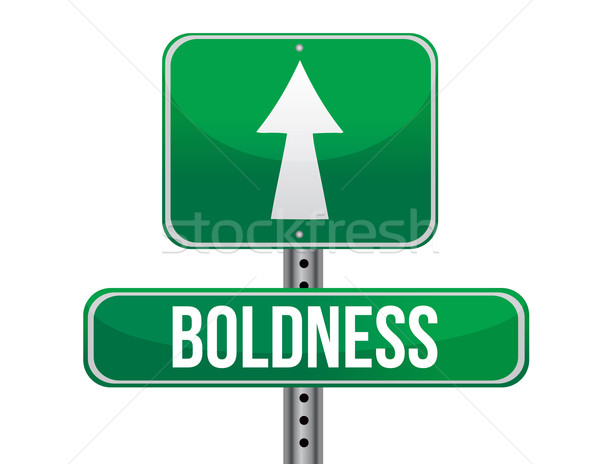 boldness road sign illustration design over a white background Stock photo © alexmillos