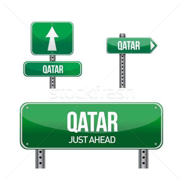 Qatar signe illustration design blanche Photo stock © alexmillos