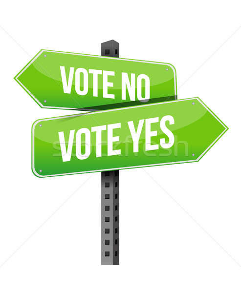 vote yes or no road sign illustration design over a white backgr Stock photo © alexmillos