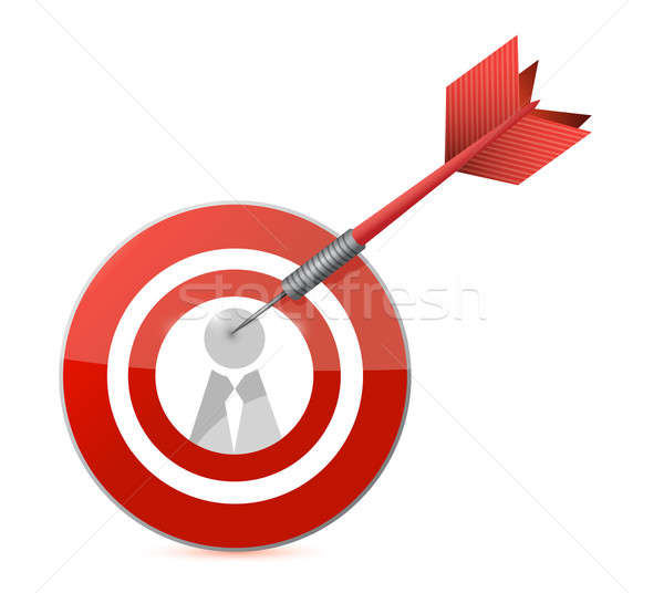 target candidate concept illustration design over white Stock photo © alexmillos