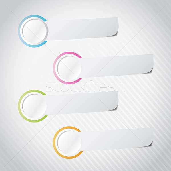 Infographics template with three options. illustration design ov Stock photo © alexmillos