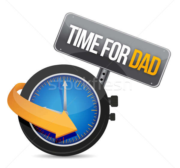 Time for Dad concept and sign. Illustration design over white Stock photo © alexmillos