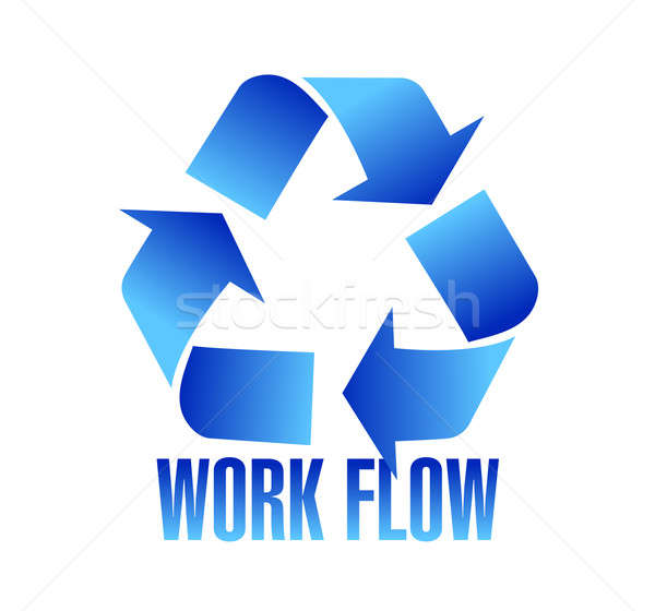 workflow symbol illustration design over a white background Stock photo © alexmillos