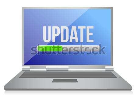 Flash drive computer illustratie ontwerp witte teken Stockfoto © alexmillos