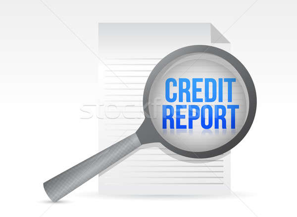 Credit Report and Magnifying Glass illustration design Stock photo © alexmillos