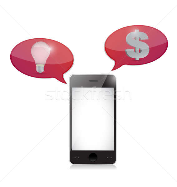 Bulb idea and money match illustration isolated over white Stock photo © alexmillos