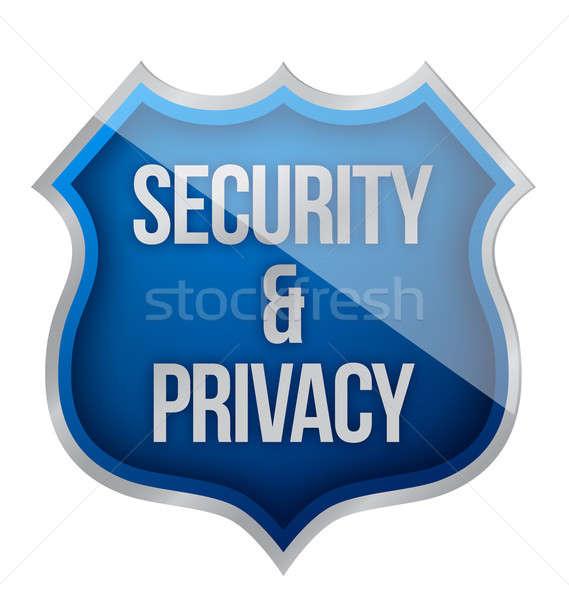 Sicurezza privacy scudo segno rete web Foto d'archivio © alexmillos