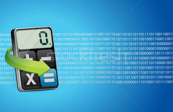 Binário moderno calculadora ciência trabalho botão Foto stock © alexmillos