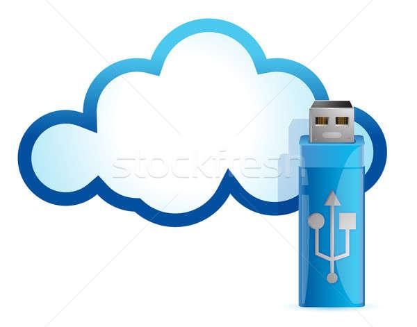 Usb flash drive ilustracja projektu technologii Zdjęcia stock © alexmillos
