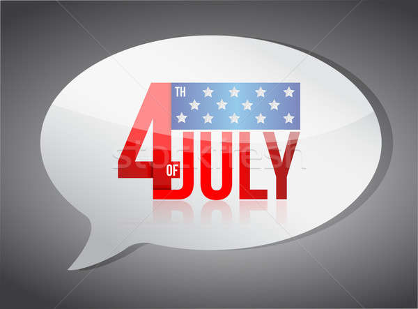 July fourth independence day message illustration  Stock photo © alexmillos