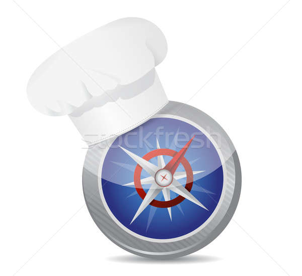 Good restaurant locator illustration  Stock photo © alexmillos