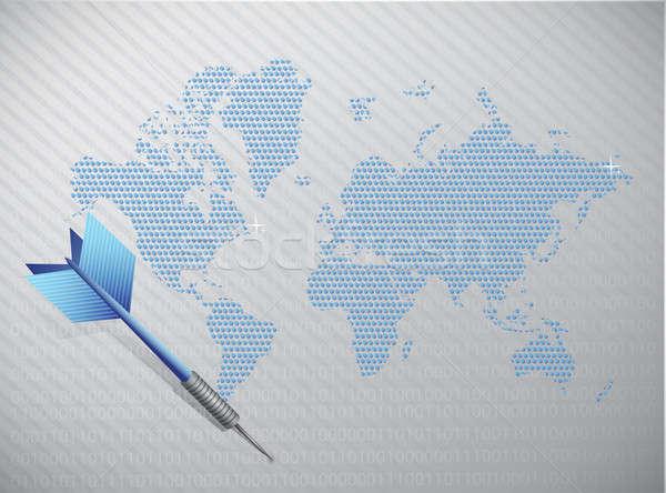 Target business internazionale illustrazione sport mappa abstract Foto d'archivio © alexmillos