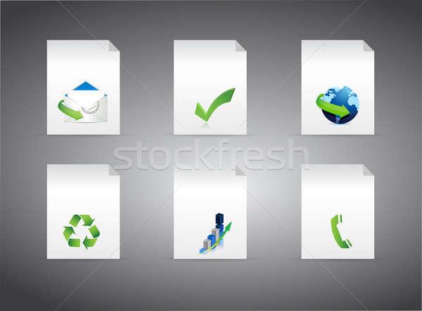 Zestaw inny działalności znaki ilustracja Zdjęcia stock © alexmillos