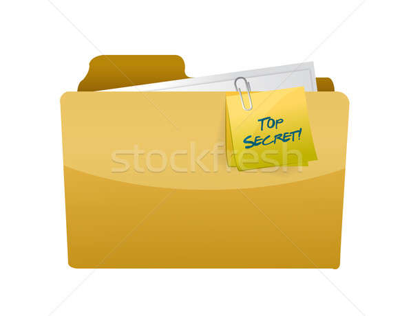 top secret folder illustration design over a white background Stock photo © alexmillos