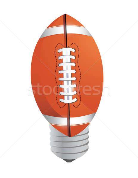 Lightbulb Football ball  Stock photo © alexmillos