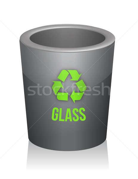 Glass recycle trashcan Stock photo © alexmillos