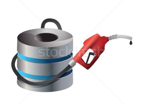 Számítógép szerver benzinkút pumpa fúvóka ipar kábel Stock fotó © alexmillos