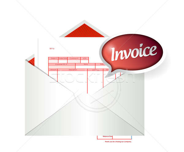 Stock photo: Invoice envelope illustration design