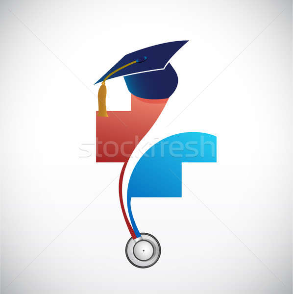 medical field graduation concept illustration Stock photo © alexmillos