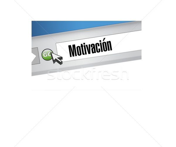 Motivation web navigateur signe espagnol illustration Photo stock © alexmillos