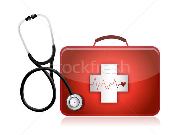 Photo stock: Médicaux · stéthoscope · illustration · design · blanche