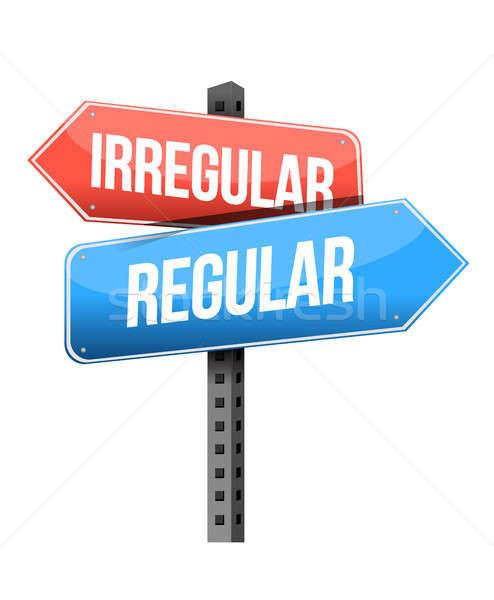 irregular, regular road sign Stock photo © alexmillos